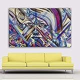 ganlanshu Pintura sin Marco Graffiti Street Art Lienzo Colorido Abstracto decoración póster decoración del hogarZGQ5386 80X120cm