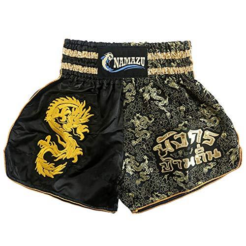 NAMAZU Muay Thai Shorts for Men and Women, High Grade MMA Gym Boxing Kickboxing Shorts Workout Training Grappling Martial Arts Fight Shorts Clothing.