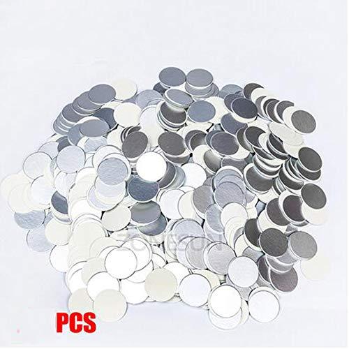 Induction angepasste Größe plactic Dichtungs laminierten Aluminiumfoliendeckel Auskleidungen 500 Stück für PP PET PVC PS ABS Glasflaschen,Pet less 5cm,4000psc