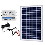ACOPOWER 25w 5A Solar Charge Kit, 12V 25W Polycrystalline Solar Panel & 5A Charge Controller for RV, Boats, Camping; w USB 5V...