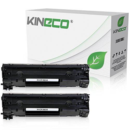2 Kineco Toner kompatibel zu HP CF283X Laserjet Pro M125nw, M125rnw, Laserjet Pro M127fw, Laserjet Pro M127FN, MFP M225DW DN, Laserjet 128, 120 Series - 83A - Schwarz je 2.200 Seiten