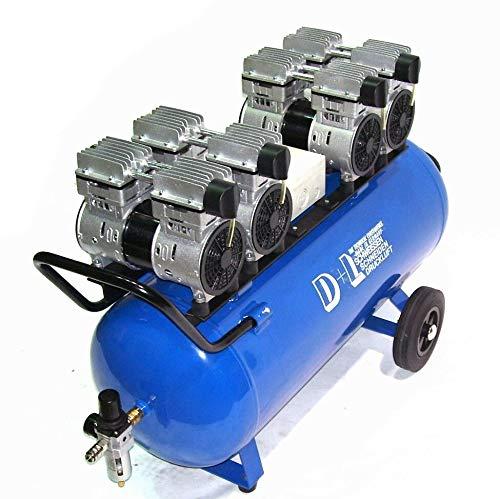Druckluft Kompressor Silent Leise V8 360/8/90W Ölfrei Flüster Kompressor 4PS AWZ