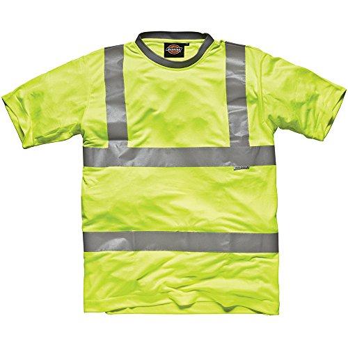 Dickies SA22080 YL XXL Maat 2X-Grote Hoge Zichtbaarheid Veiligheid T-Shirt - Geel Tuniek XX-Large Geel