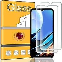 FOR Xiaomi Redmi 9T フィルム 【2枚セット】日本旭硝子素材 FOR Xiaomi Redmi 9T 専用強化ガラスフィルム 2.5D 硬度9H ケース対応 指紋防止 高光沢 液晶強化ガラス 液晶保護フィルム PCduoduo