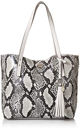 Anne Klein Snake Carry All Tote, Grey