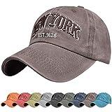 Tuopuda Gorra de Beisbol Sombrero de Gorra Ajustable con Bordado Now York Gorra de Algodón Vintage Sombrero de Sol de Verano Polo Sports Cap para Hombres Mujeres