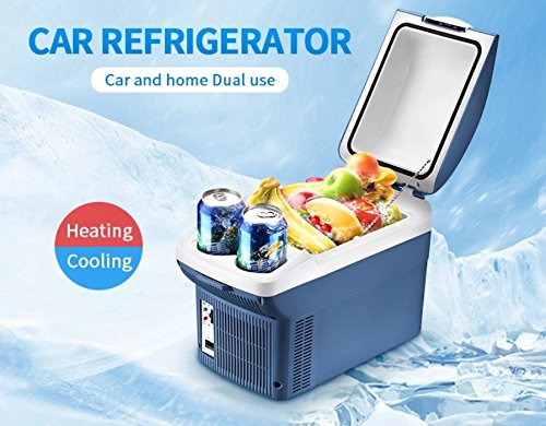 AMYMGLL Refroidisseur électrique Thermo de la Voiture 8L/220V à la Maison et Réfrigérateur d'utilisation de 12VCar, Pique-Nique/Voyage, Stockage et Conservation