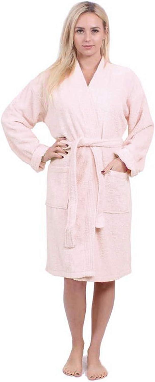 Turkuoise Women's Terry Cloth Robe Turkish Cotton Terry Kimono Collar