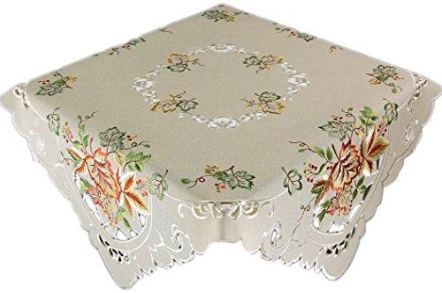 Espamira Tischdecke Herbst Halloween Decke 5x85 cm Herbstdecke Blätterdecke Tisch Deko