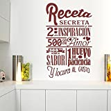 Jsnzff Cocina, Comida, Pegatinas de Pared, Receta, calcomanía de Vinilo Secreta, Amor, Chef, Cocina, Arte, Mural, Restaurante, decoración Creativa, 71x113cm