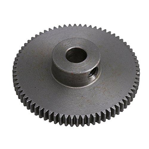 CNBTR 72 Zähne Stahl Ritzel Zahnrad 6 mm Schaftloch 0,5 Modul Sporengetriebe kleine Größe für DIY