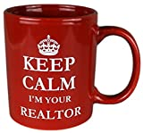 Funny Guy Mugs Keep Calm I'm Your Realtor Coffee Mug, Red, 11-Ounce