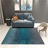 WQ-BBB Disponible En Todas Las Temporadas Dormitorio La Alfombrae Diseño Minimalista Estilo De Color Degradado Azul Negro Decoracion Habitacion Bebe 200X300Cm