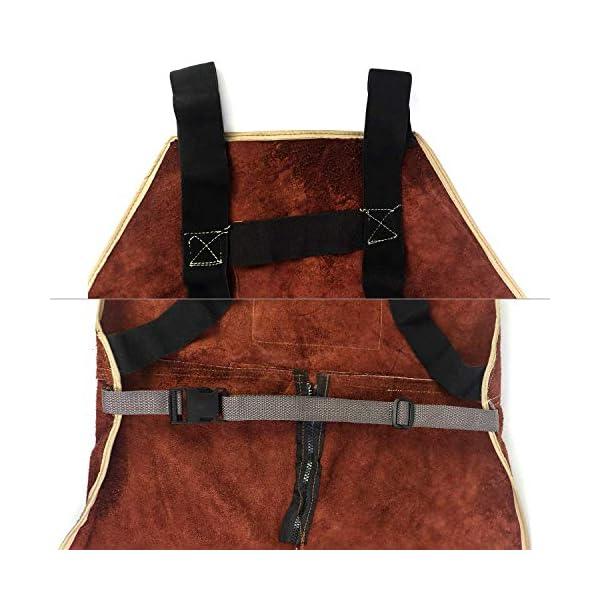 QWORK Leather Welding Apron with Split Legg 4