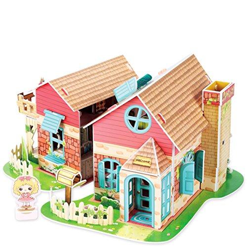 Puppenhaus Sweet Villa 3D Puzzle mit LED Beleuchtung