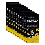 Pila del audífono RAYOVAC modelo 10, PR70, paquete de 60 pilas - 10 x blister de 6 undidades