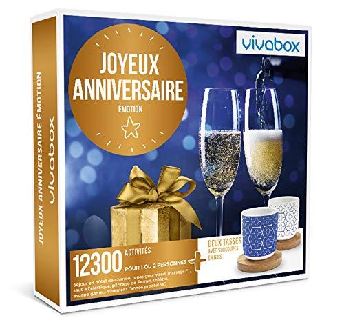 Vivabox - Coffret cadeau anniversaire - JOYEUX ANNIVERSAIRE EMOTION - 12300 activités + 2 tasses