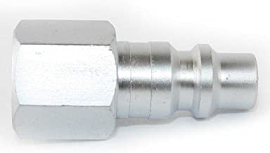 Interstate Pneumatics CPH660 3/8 Inch Industrial Steel Coupler Plug 3/8 Inch Female NPT