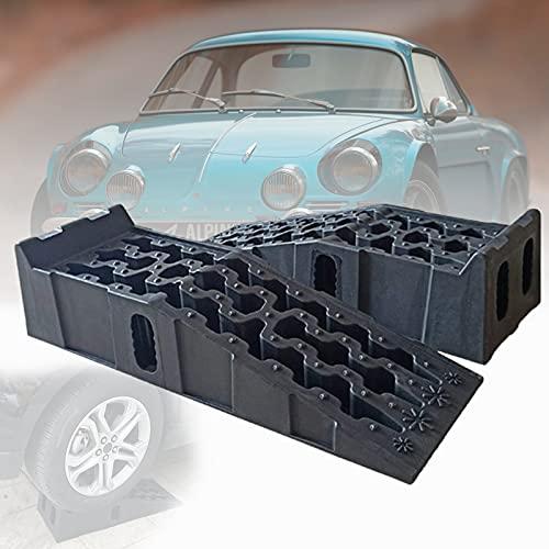 ZPCSAWA 2 Cuñas niveladoras para Ruedas de Coche Kit De Rampa De Umbral De Plástico Resistente para Coches, Camiones, Scooters, Bicicletas y Motos
