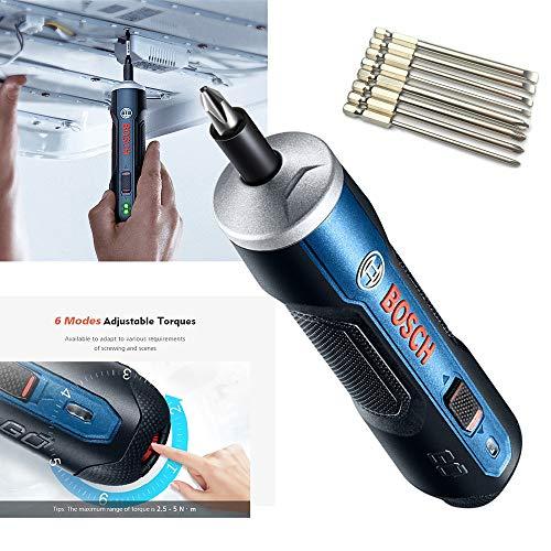 Für Bosch Go 3,6 V Smart Akkuschrauber Top Qualitätsproduk,Bosch Professional Akku-Schrauber (Ladegerät, Kunststoffbox,1,5 Ah, 8-tlg. Zubehör-Set)