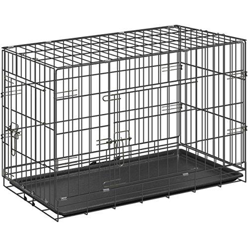 ottostyle.jp 折り畳み式 ドッグサークル (トレイ付き) 中型犬用 幅76cm×奥行き45cm×高さ51.5cm