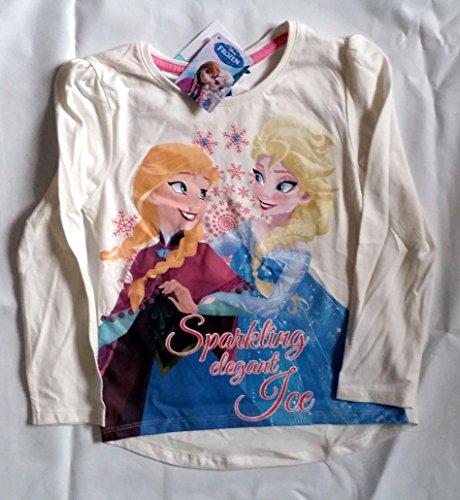 T-shirt manche longue disney la reine des neiges en coton 6 ans