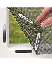 Hoberg hor met innovatieve magneetsluiting voor het raam | Individueel op maat te snijden tot 150 x 130 cm, niet boren of schroeven, 16 magneetclips