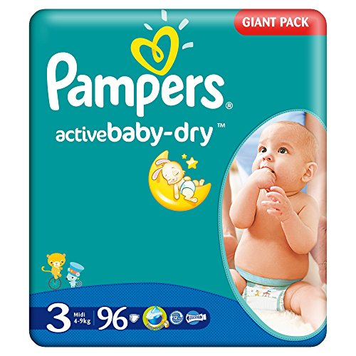 Pampers Windeln Baby Dry Midi 3 Gr. 4-9 Kg (Pampers Active Baby Gr. 3 (4 x 90 Windeln))