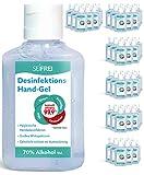 SEIFREI® - Desinfektions Hand-Gel 72 x 60ml | Desinfektionsmittel optimal für Unterwegs und die Reise | Hoher Ethanol Gehalt | Bekämpft effektiv 99,9% behüllte Viren und Bakterien | Großpackung
