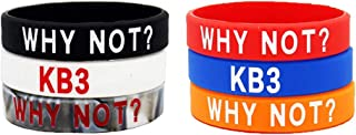 FANwenfeng Basketball Westbrook WHY NOT Inspirational Wristbands Sport Silicone Bracelet 6 Pcs