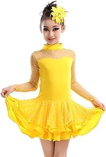3226053603158 BOZEVON Filles Enfants Pailletée Danse Latine Robe Compétition de fête