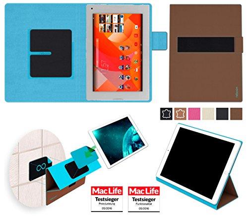 Hülle für Medion Lifetab P8912 Tasche Cover Hülle Bumper | in Braun | Testsieger
