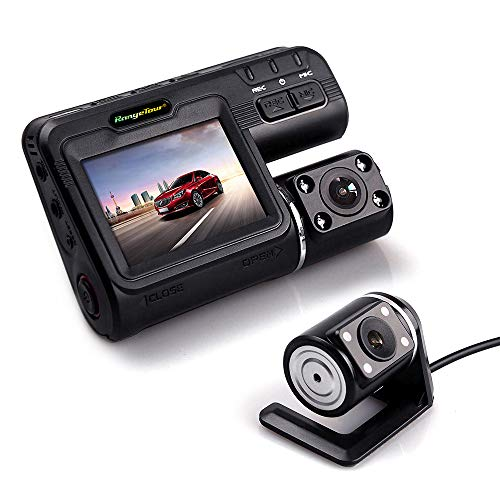 Car DVR Dash Camera Dual Lens 1080P Black Box Driving Recorder Front Cam With 4 IR Lights Night Vision Inside The Car