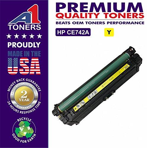 A1 Compatible Replacement Toner Cartridge for HP 651A/HP CE342A Set of 1Yellow, 1Pack Yellow HP CE342A 1Y HP CE343A. Compatible with Printers � HP Color LaserJet Enterprise MFP M775 M775dn