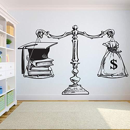 Buch Vinyl wandtattoo Schule Bildung lesesaal bibliothek wandaufkleber buchhandlung Dekoration Motivation kunstwand 67x42 cm