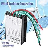 Controlador de carga de viento 12V / 24V 300W / 600W, Regulador de control de carga de generador de turbina de viento a prueba de agua, Pantalla LED auto Regulador de carga de energía de viento SF-12-