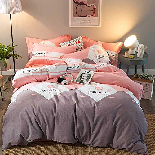 YXOPB Baumwolle Dicke Vierteilige Warme Bettwäsche Vierteiliges Bettwäscheset 2,0 m Bett 4-teiliges Set/Rococo