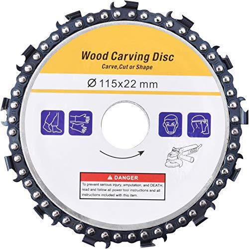 WARMQ - Hoja de sierra circular para corte de carburo de 115 mm, para amoladora angular Speedcutter, disco amoladora de madera para esculpir, cortar, moldear (13 dientes)