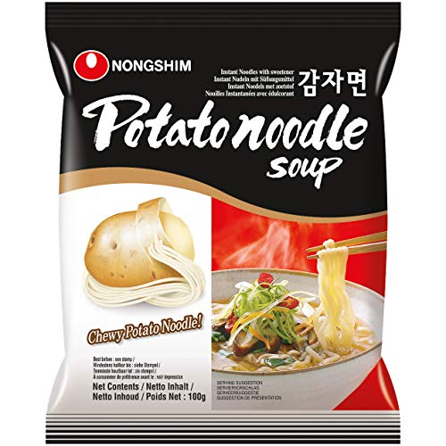 Nong Shim Instantnudeln Potato Noodle Soup – Koreanische China Nudeln mit Kartoffelnudeln - schnelle Zubereitung – 1er Pack à 100g