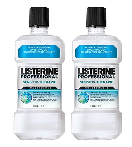 LISTERINE PROFESSIONAL SENSITIV-THERAPIE Mundspülung – Mundspülung für langanhaltenden Schutz vor Schmerzempfindlichkeit – 2er Pack (2 x 500ml)