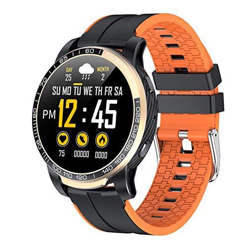 BNMY Smartwatch, Reloj Inteligente Impermeable IP67 con Monitor De Sueño Pulsómetros Cronómetros, Pulsera De Actividad Inteligente para Hombre Mujer Niños con iOS Y Android,Naranja