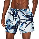 EMPORIO ARMANI swimwear Boxer Beachwear Tropical Jungle Costume da Bagno, Bianco (St. Astratta Bianco 63910), Medium (Taglia Unica: 50) Uomo