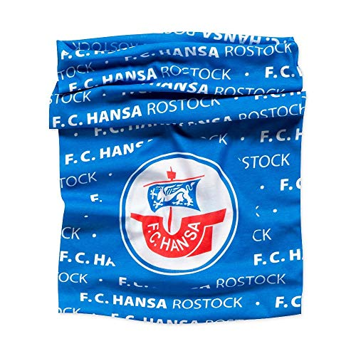 F.C. Hansa Rostock Multifunktionstuch, Schlauchschal blau, Tuch, Halstuch - Plus Lesezeichen Wir lieben Fußball