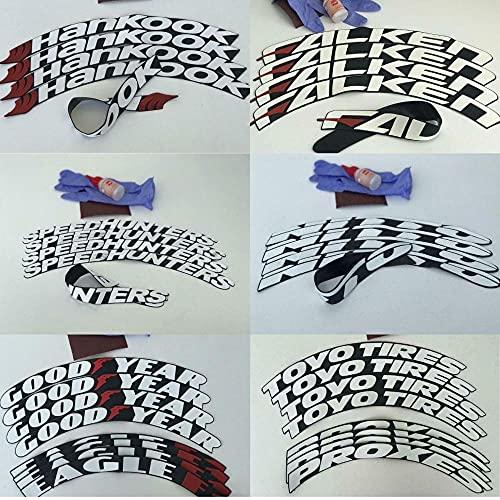 HUANGRONG Pegatinas de automóviles de neumáticos Lettering Decal 3D Kits A estrenar Fits 14'a' 24 Coche Pegatinas de Rueda de automóvil Tuning Universal Letras Decoración (Color : 8PcsHankook-White)