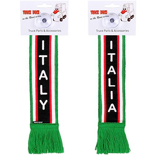 TRUCK DUCK® LKW Auto Minischal Italien Italy Trucker Mini Schal Wimpel Flagge Fahne Saugnapf Spiegel Deko