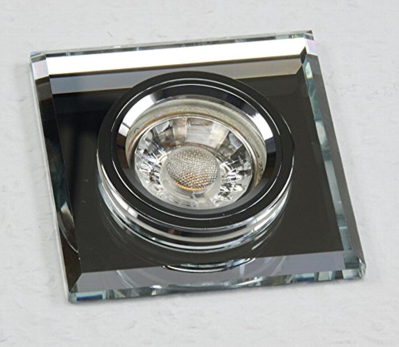 4 Stück MCOB LED Glas Einbaustrahler Tristan 230 Volt 3 Watt Starr Silber Warmwei