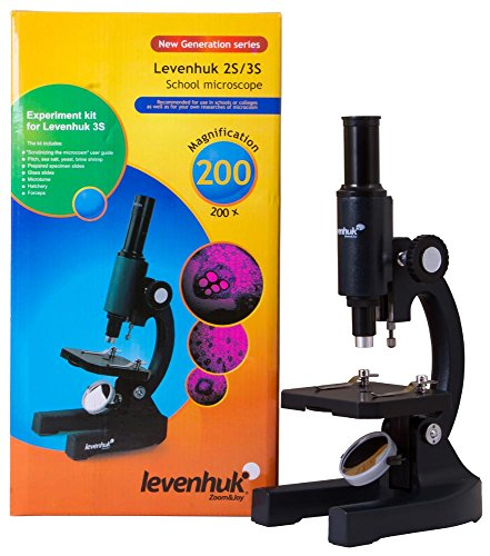 Levenhuk 2S NG Microscope with Safe Plano-Concave Mirror Illumination for Children