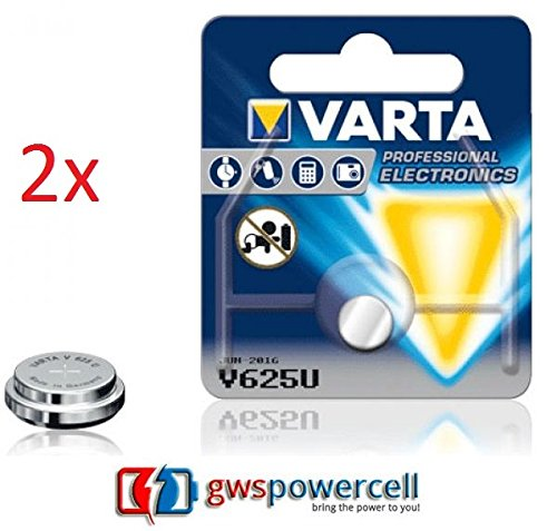 GWS-POWERCELL® VARTA PROFESSIONAL ELECTRONICS V625U jeweils im Einzelblister verpackt / NEU & OVP (V625U, 2 Stück)