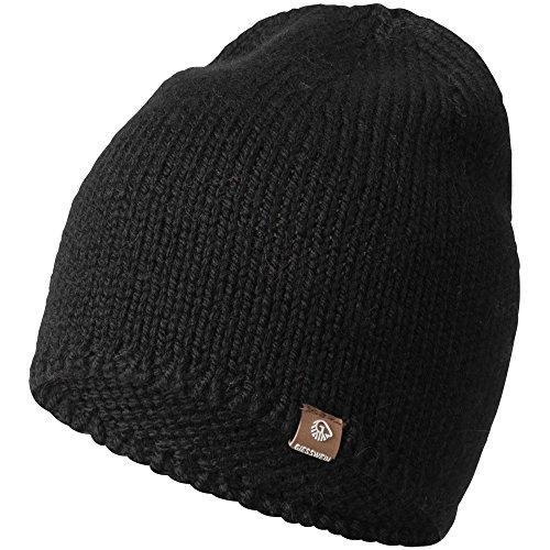 GIESSWEIN Strickmütze Hohe Munde - Unisex High Beanie mit Merinowolle, Leichte Mütze für Damen & Herren, Haube für Herbst & Winter, Wool Cap