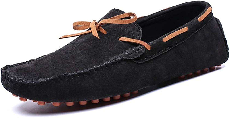 Mode för mode av herrskor Lok Fu Fu Fu skor Casual Comfort Shock Absorption Personlig bältesnamn Soft herrar läder skor (Färg  svart, Storlek  12 D (M) US)  kvalitetsgaranti